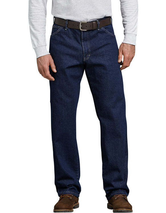 Relaxed Fit Carpenter Denim Jeans - Rinsed Indigo Blue (RNB)