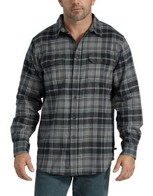 Heavyweight Long Sleeve Flannel Shirt - Graphite Black Plaid (BTP)