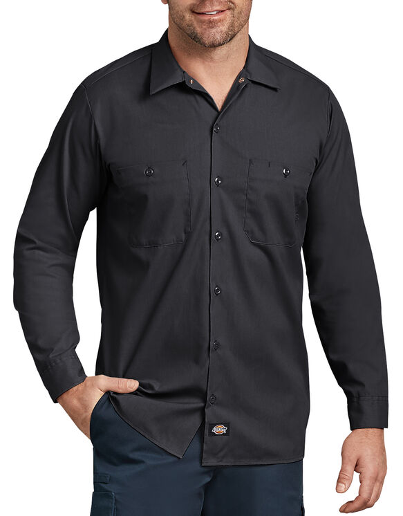 Chemise de travail industrielle à manches longues - Noir (BK)