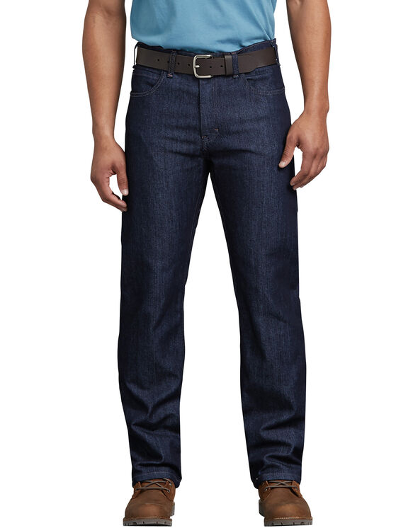 Tough Max™ Regular Fit Straight Leg 5-Pocket Denim Jean - Rinsed Indigo Blue (RNB)