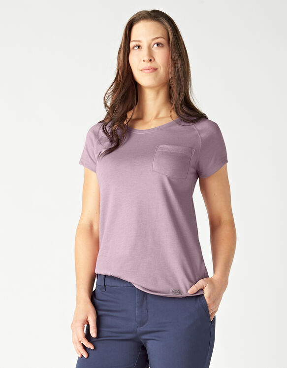 Women's Short Sleeve Cooling Temp-iQ™ Performance T-Shirt - Mauve Shadow Heather (VSH)