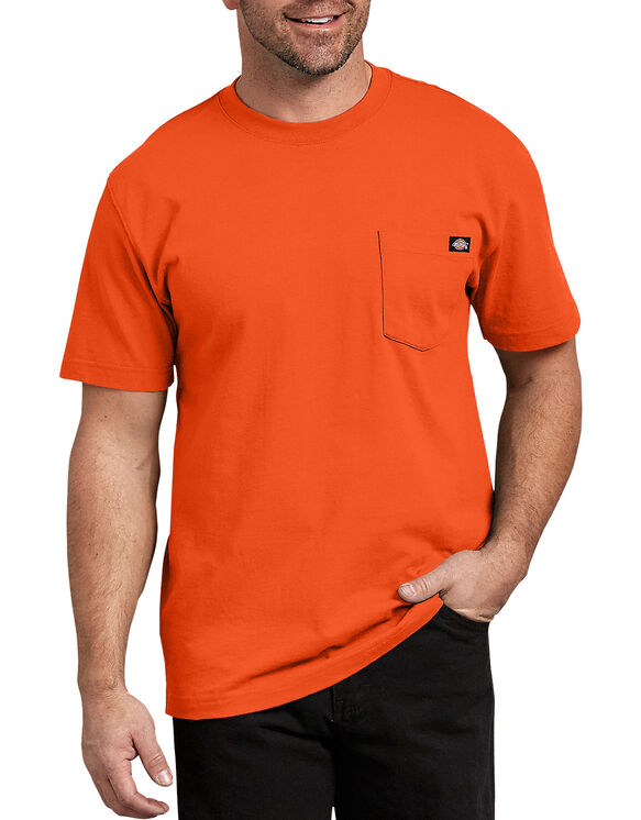 Short Sleeve Heavyweight Crew Neck Tee - Orange (OR)