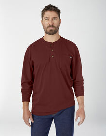 Long Sleeve Heavyweight Henley Shirt - Madder Brown (MB1)