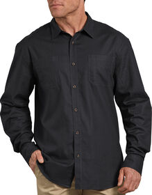 Relaxed Fit Icon Long Sleeve Solid Shirt - Stonewashed Black (SBK)