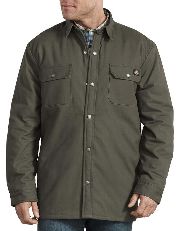 Veste-chemise doublée à motif tartan - Moss Green (MS)