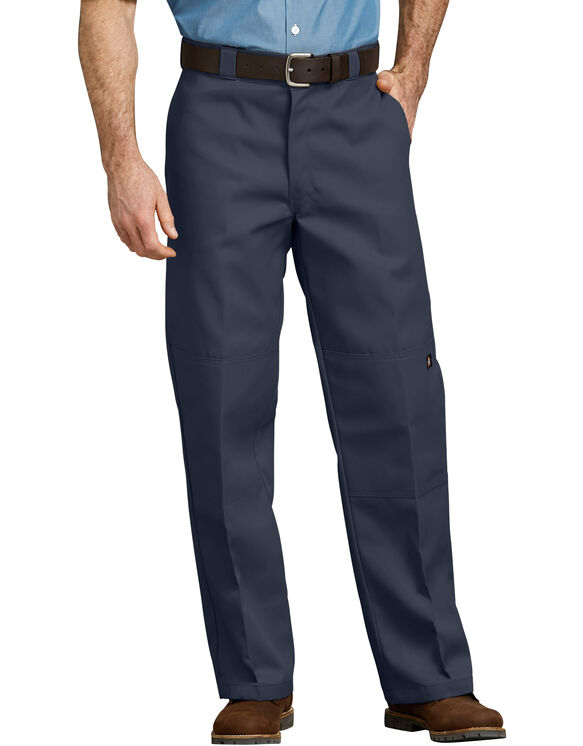 Loose Fit Double Knee Work Pants - Dark Navy (DN)