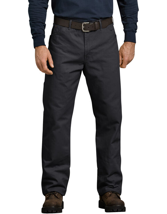 Relaxed Fit Carpenter Duck Jean - RINSED BLACK (RBK)