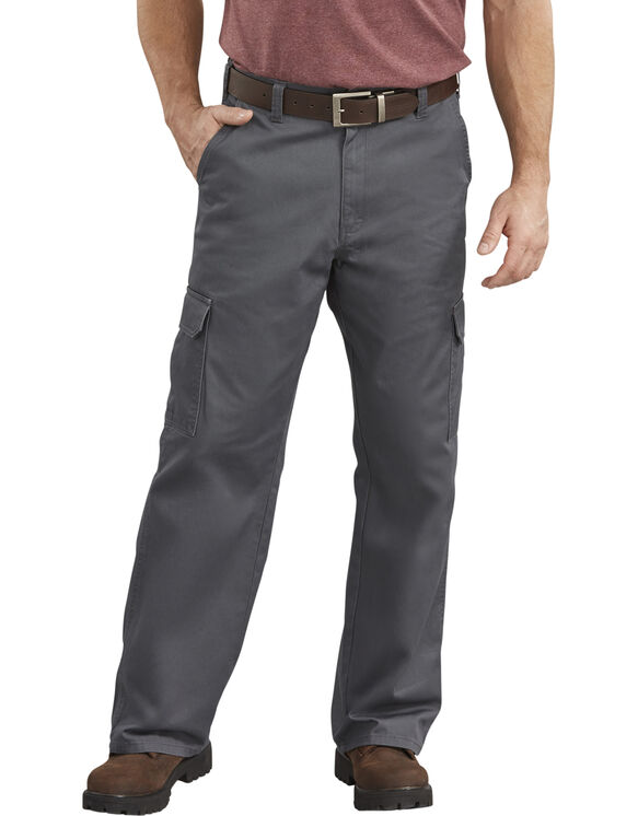 Loose Fit Straight Leg Cargo Pants - Rinsed Charcoal Gray (RCH)