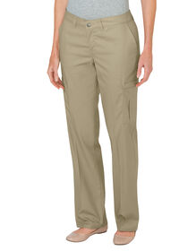 Women's Premium Relaxed Fit Straight Leg Cargo Pants - Desert Khaki (DS)