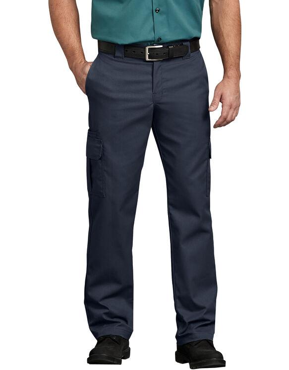 FLEX Regular Fit Straight Leg Cargo Pants - Dark Navy (DN)