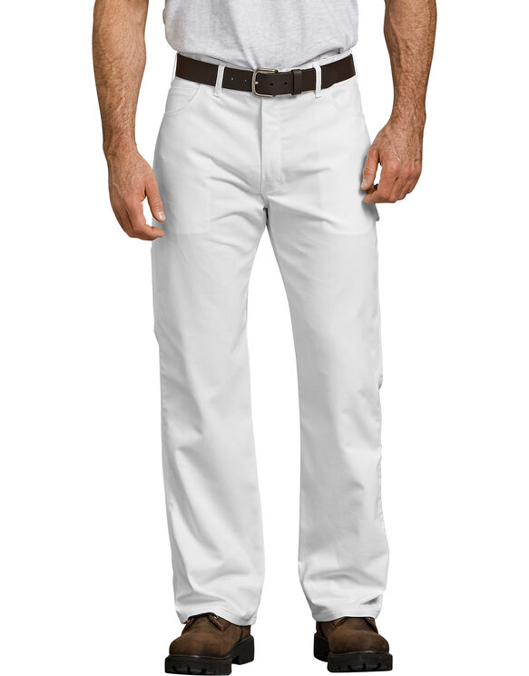 FLEX Relaxed Fit Straight Leg Painter's Pants - White (WH)