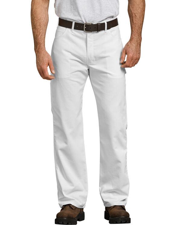Pantalon de peintre FLEX à jambe droite et coupe décontractée - White (WH)