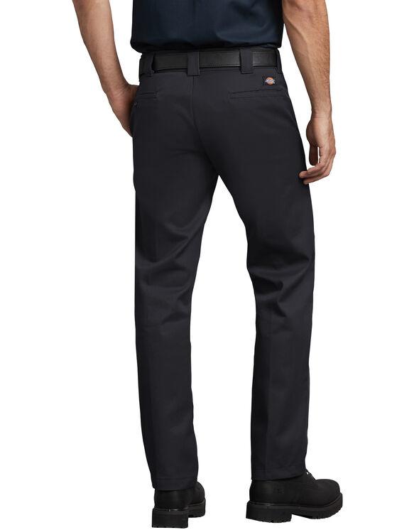 Slim Fit Straight Leg Work Pants - Black (BK)