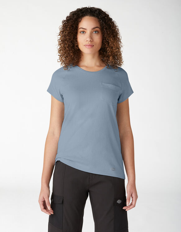Women's Short Sleeve Cooling Temp-iQ®  Performance T-Shirt - Fog Blue (FE)