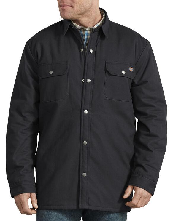 Veste-chemise doublée à motif tartan - Black (BK)
