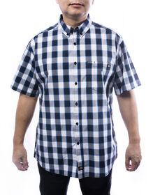 Men's Short Sleeves Plaid Shirt - BLUE (BL9)