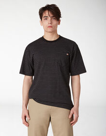 Striped Pocket T-Shirt - Black Heather Stripe (HSB)