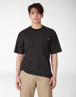T-shirt à poche rayé - Black Heather Stripe (HSB)