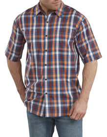 Icon Relaxed Fit Yarn Dyed Shirt - Dark Navy Blue  Plaid (RDNM)