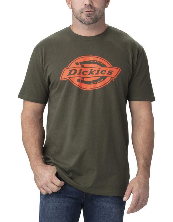 T-shirt à manches courtes de coupe décontractée avec imprimé - Dark Green (GC)