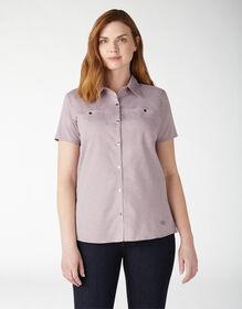 Women's Cooling Temp-iQ™ Short Sleeve Work Shirt - Lilac Heather (ICH)