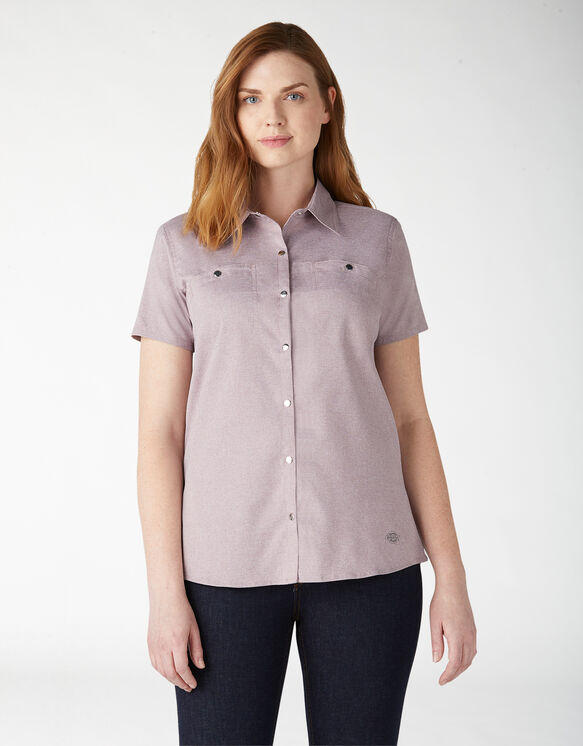 Women's Cooling Temp-iQ™ Short Sleeve Work Shirt - Lilac Heather (ICH)