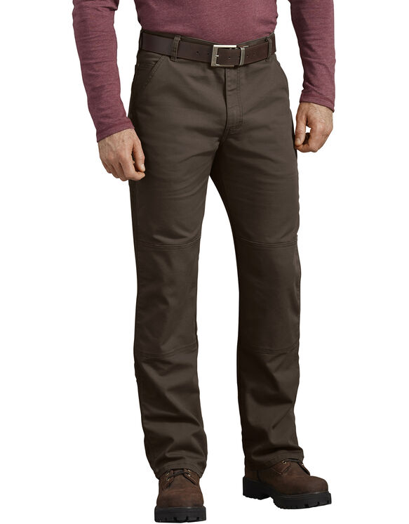 FLEX Regular Fit Duck Double Knee Pants - Stonewashed Timber Brown (STB)