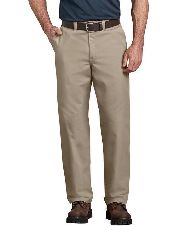 Industrial Relaxed Fit Straight Leg Comfort Waist Pant - Desert Khaki (DS)