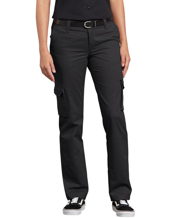 Women's Stretch Cargo Pants - Black (BK)