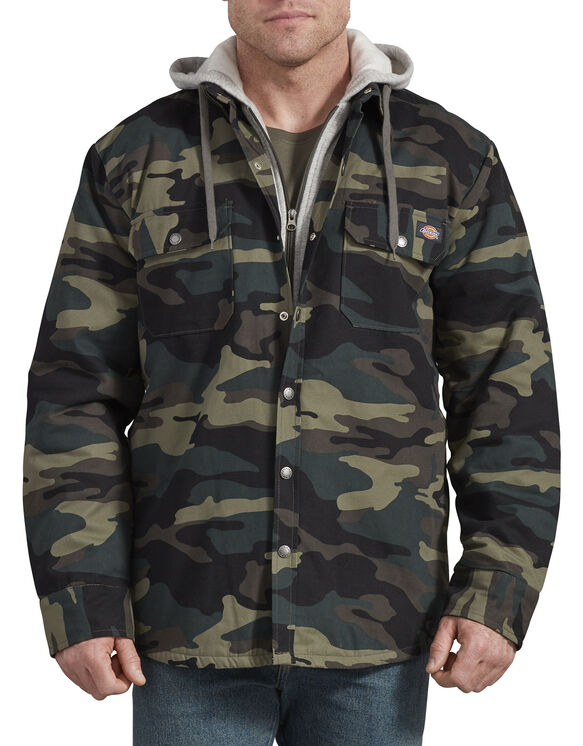 Relaxed Fit Icon Hooded Duck Quilted Shirt Jacket - Hunter Green Camo (HRC)
