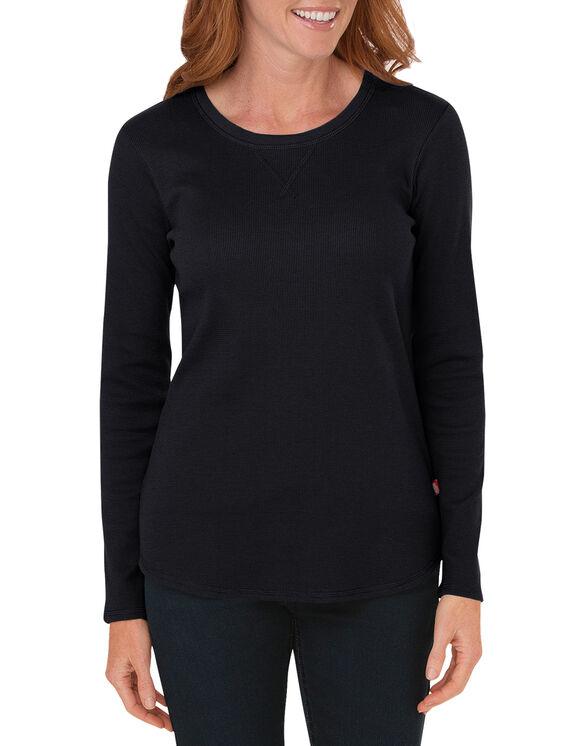 T-shirt isotherme à manches longues pour femmes - Noir (BK)