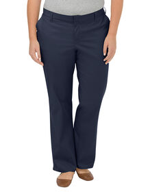 Women's Premium Relaxed Straight Flat Front Pants (Plus) - Dark Navy (DN)