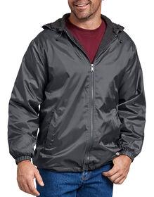 Veste à capuchon en nylon avec doublure en molleton - Charcoal Gray (CH)