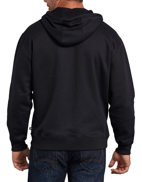 Relaxed Fit Graphic Fleece Pullover Hoodie - Black (BK)