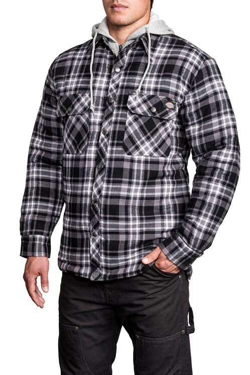 Quilted Faux Fleece Jacket - D4126 N PLAID 002 DICKIES BLAC (CF6)