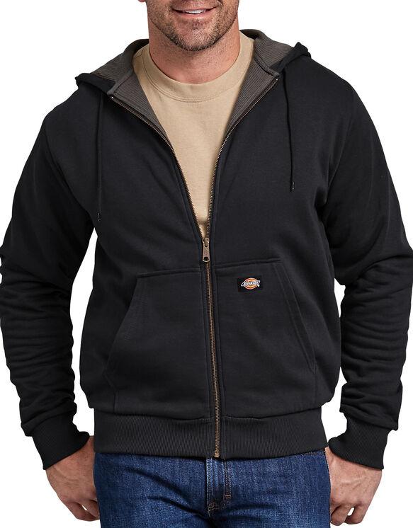 Thermal Lined Fleece Hoodie - Black (BK)