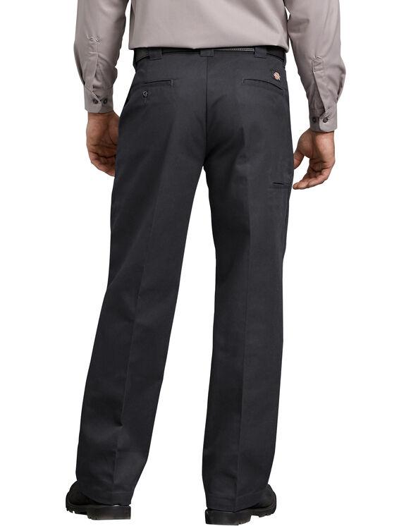 FLEX Relaxed Fit Straight Leg Twill Comfort Waist Pants - Black (BK)