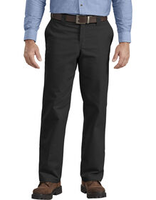 FLEX Regular Fit Straight Leg Twill Multi-Use Pocket Work Pants - Black (BK)