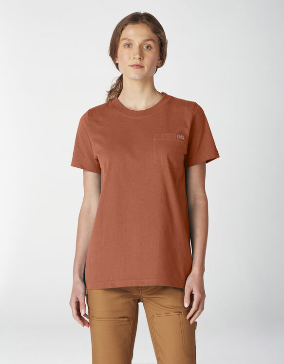 Women's Short Sleeve Heavyweight T-Shirt - Auburn (AN1)