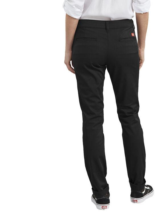 Pantalon taille plus en sergé extensible pour femmes - Rinsed Black (RBK)