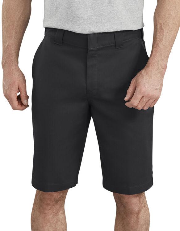 "11"" Active Waist Flat Front Shorts - Black (BK)"