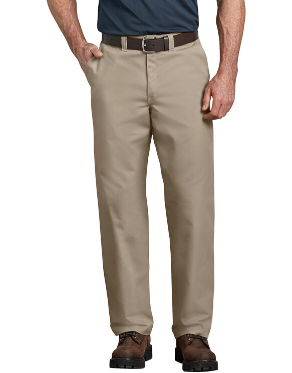Industriel plate pantalon taille avant - Desert Khaki (DS)