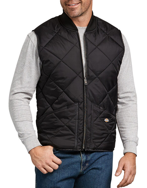 Quilted Nylon Vest - Black (BK)