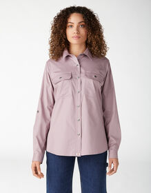 Chemise de travail à manches longues retroussables pour femmes - Lilac (LC)