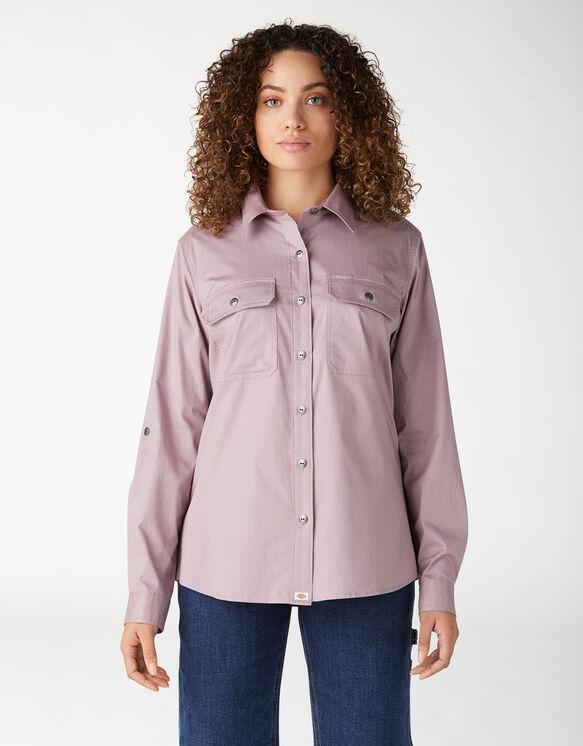 Women's Long Sleeve Roll-Tab Work Shirt - Lilac (LC)
