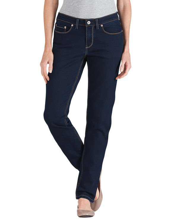 Women's Curvy Fit Skinny Leg Denim Jean - Stonewashed Dark Blue (DSW)