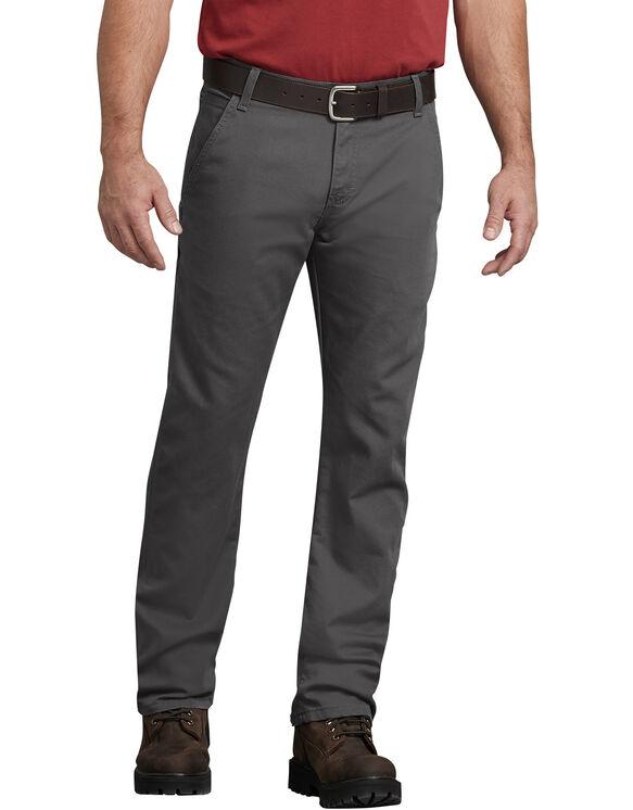 FLEX Regular Fit Straight Leg Tough Max™ Duck Carpenter Pants - Stonewashed Gray (SSL)