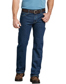 FLEX Relaxed Fit Straight Leg Carpenter Denim Jeans - Rinsed Indigo Blue (FRI)