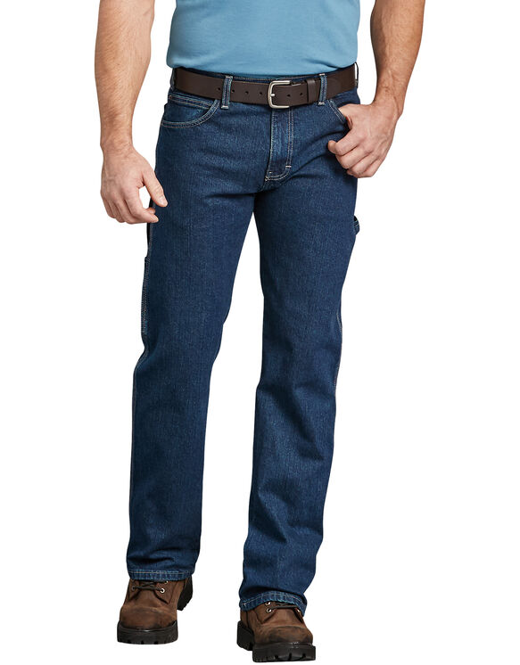 Flex Relaxed Fit Straight Leg Carpenter Denim Jean - Rinsed Indigo Blue (FRI)