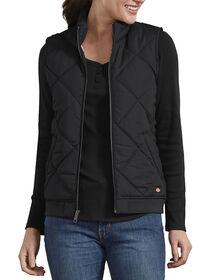 Women's Quilted Vest - Black (BK)